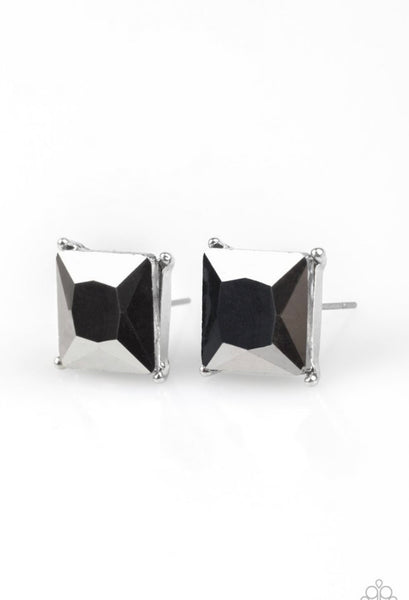 Paparazzi The Big Bang - Silver Earrings