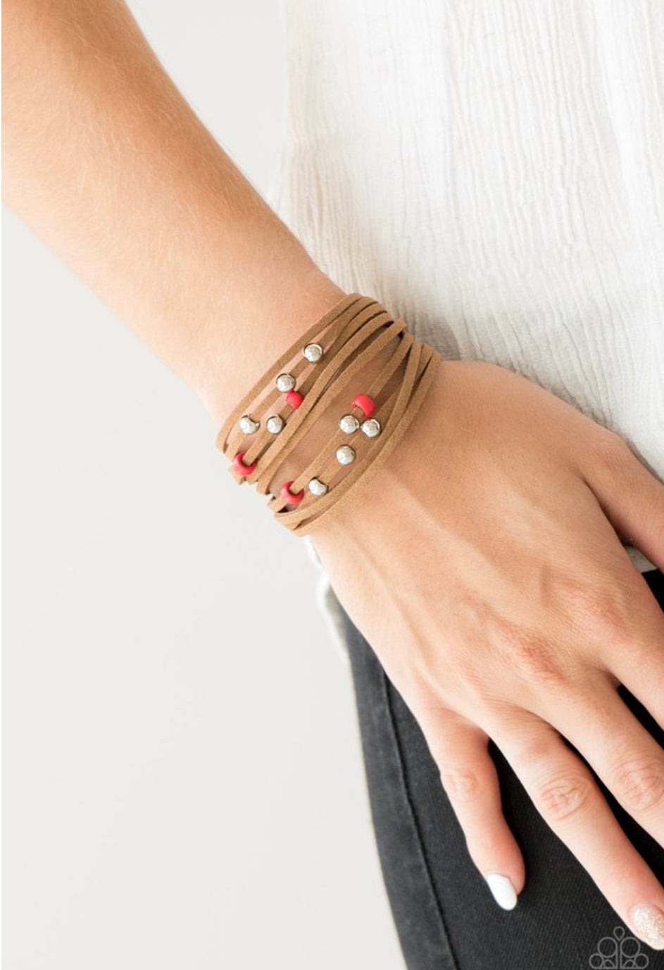Paparazzi Colorfully Coachella - Red Bracelet