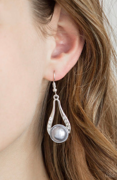 Paparazzi HEADLINER Over Heels - Silver Earrings