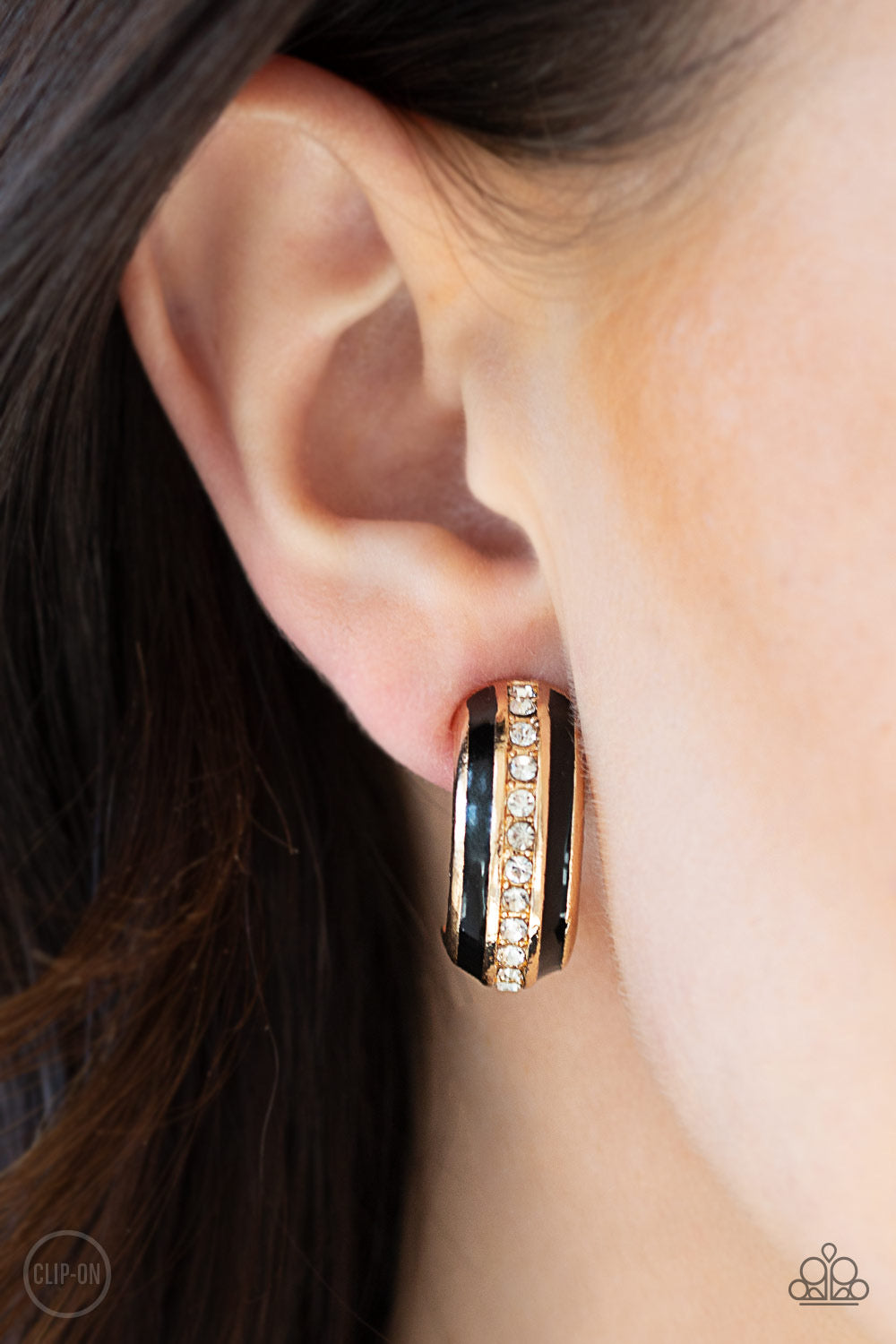 Paparazzi WEALTHY Living - Gold Clip-on Earrings