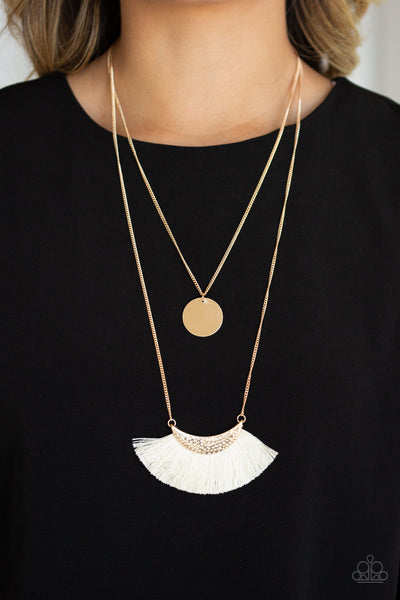 Paparazzi Tassel Temptation - Gold Necklace