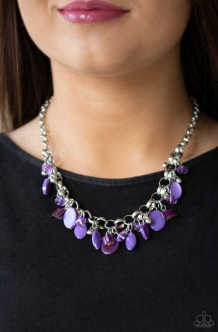 Paparazzi I Want To SEA The World - Purple Necklace