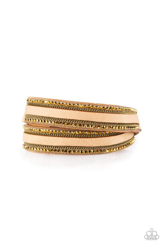 Paparazzi Going for Glam Brass Double Wrap Bracelet