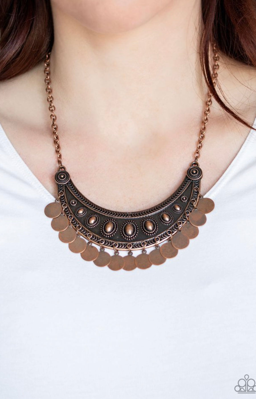 Paparazzi CHIMEs UP - Copper Necklace