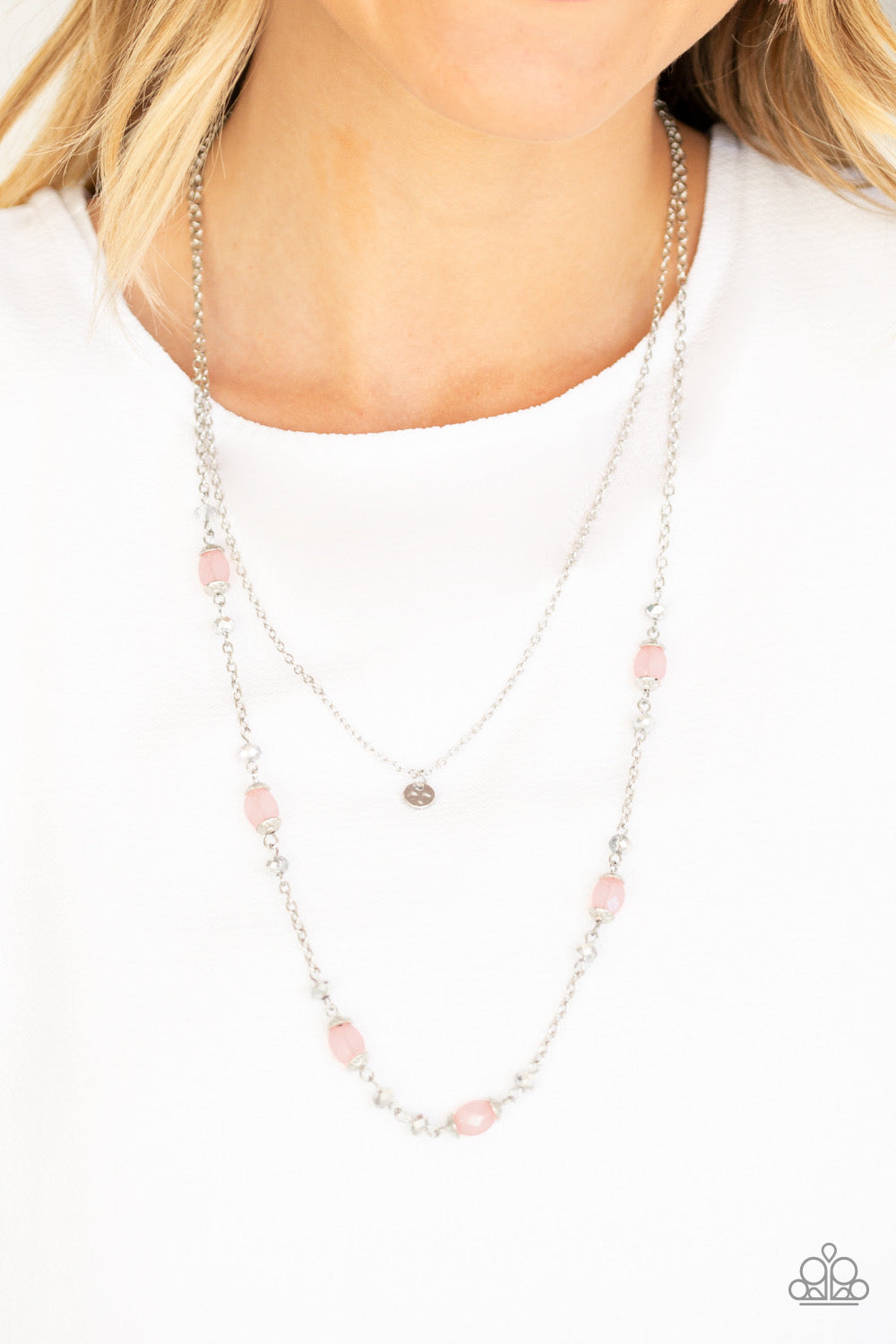 Paparazzi Irresistibly Iridescent - Pink Necklace
