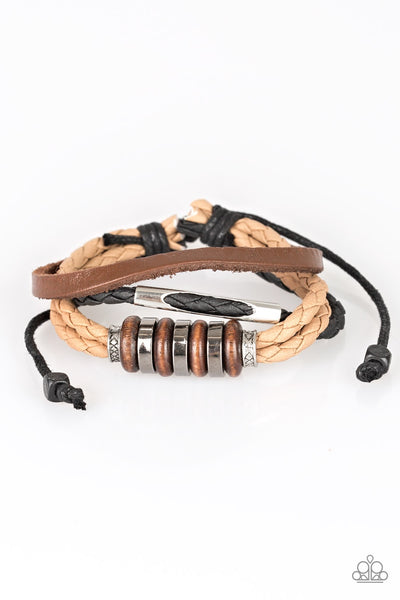 Paparazzi Sole Survivor - Brown Bracelet