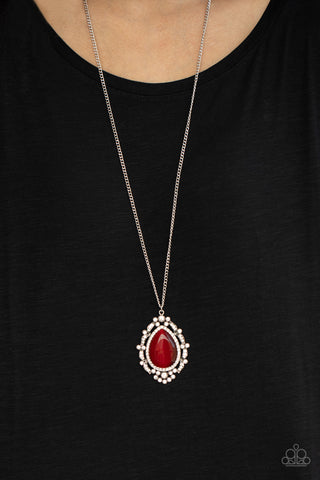 Paparazzi Frozen Gardens Red Necklace