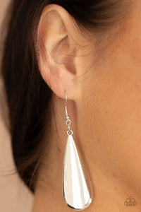 Paparazzi The Drop Off Silver Earrings