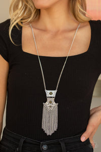 Paparazzi Totem Tassel - Green Necklace