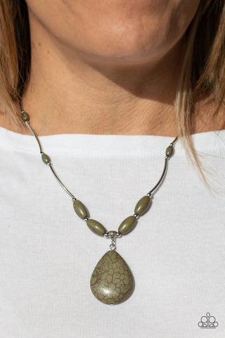 Paparazzi Explore The Elements - Green Necklace