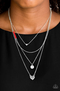 Paparazzi Gypsy Heart Red Necklace