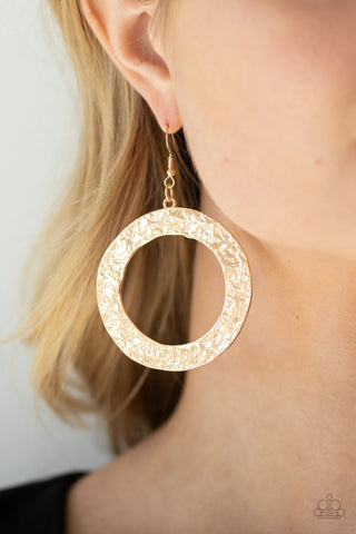 Paparazzi PRIMAL Meridian Gold Earrings