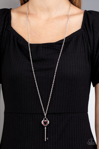 Paparazzi Unlock Your Heart - Red Necklace