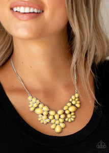 Paparazzi Bohemian Banquet - Yellow Necklace