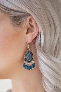 Paparazzi Private Villa - Blue Earrings