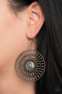 Paparazzi Rustic Groves Silver Earrings