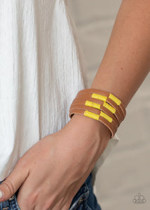 Paparazzi Country Colors Yellow Bracelet