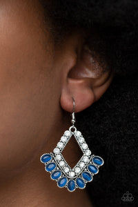 Paparazzi Just BEAM Happy Blue Earrings