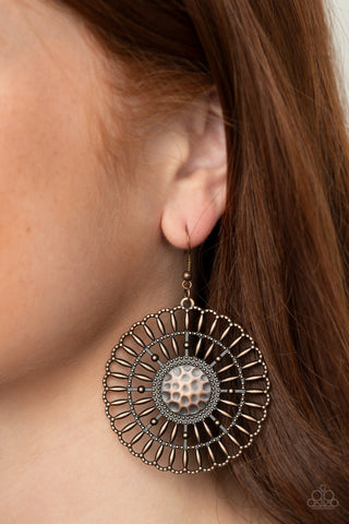 Paparazzi Rustic Groves Copper Earrings