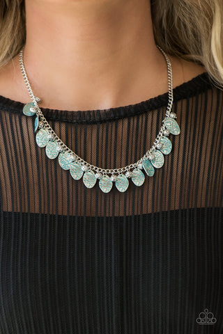 Paparazzi Vintage Gardens - Blue Necklace