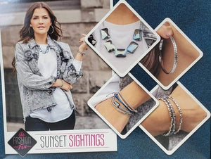 Paparazzi Sunset Sightings February, 2021 Blue Iridescent $20 Set
