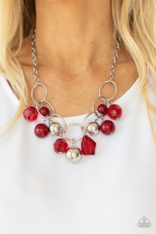 Paparazzi Cosmic Getaway Red Necklace