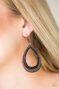 Paparazzi Right As REIGN - Copper Earrings