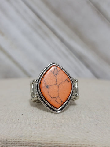 Paparazzi Desert Zen Orange Ring