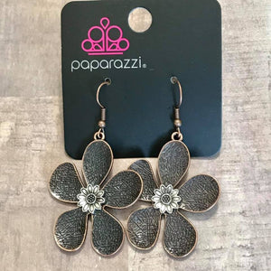 Paparazzi Fresh Florals Copper Earrings