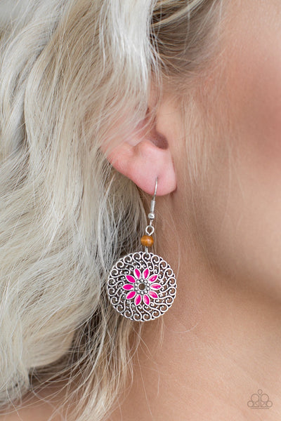 Paparazzi Honolulu Harmony - Pink Earrings
