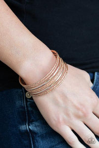 Paparazzi Stack Shack Rose Gold Cuff Bracelet