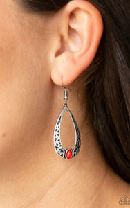 Paparazzi Colorfully Charismatic - Red Earrings