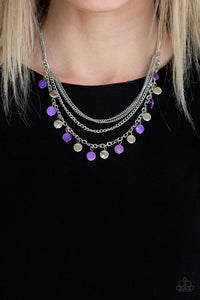 Paparazzi Beach Flavor - Purple Necklace