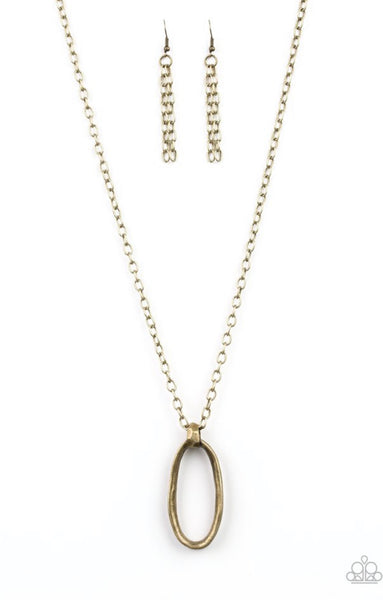 Paparazzi Grit Girl - Brass Necklace