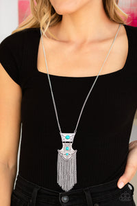 Paparazzi Totem Tassel - Blue Necklace