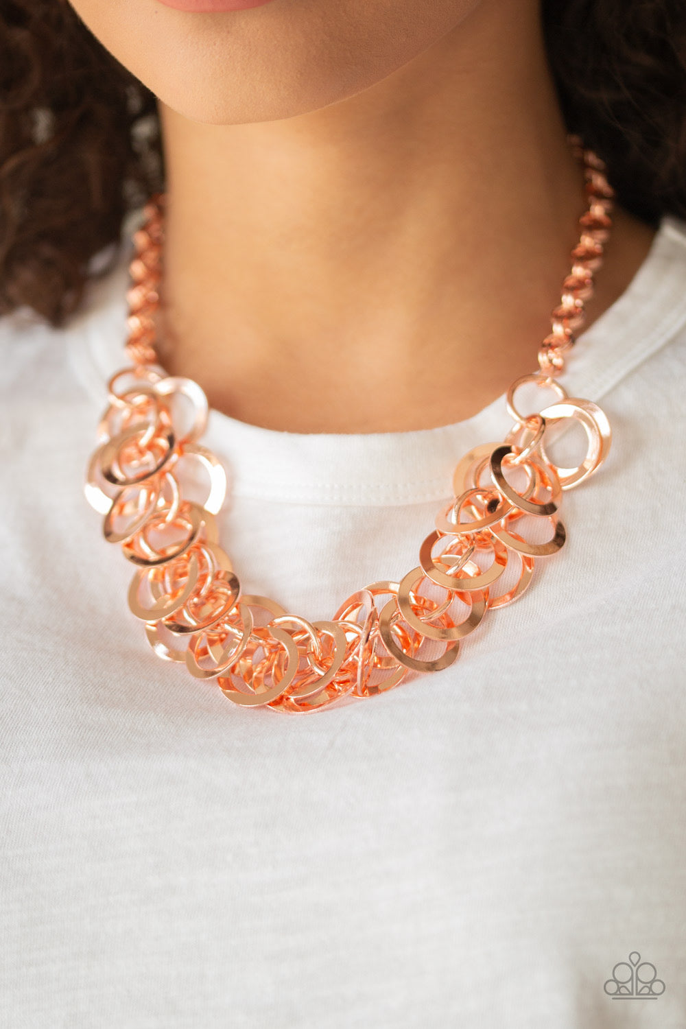 Paparazzi Ringing In The Bling - Copper Necklace