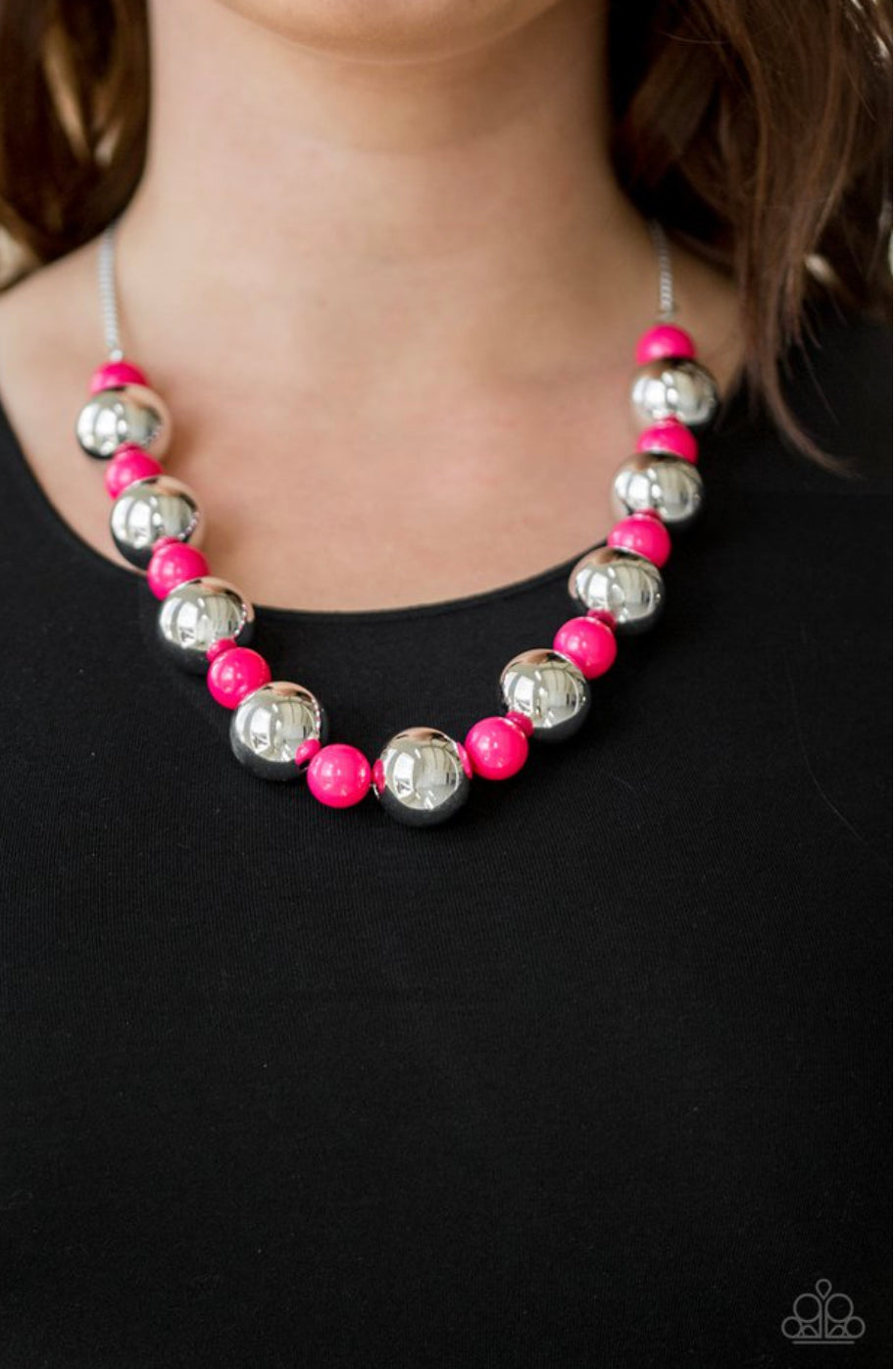 Paparazzi Top Pop - Pink Necklace