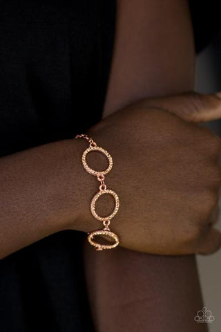 Paparazzi Dress the Part Copper Bracelet