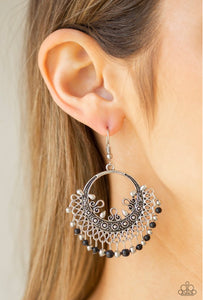 Paparazzi Canyonlands Celebration - Black Earrings