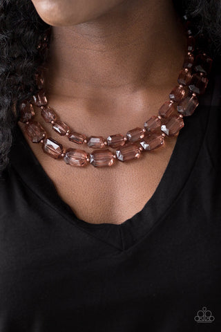 Paparazzi Ice Bank - Copper Necklace