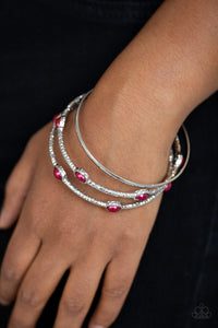 Paparazzi Bangle Belle - Red Bracelet