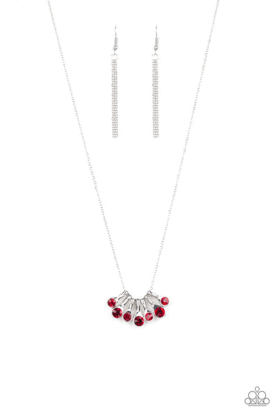 Paparazzi Slide Into Shimmer - Red Necklace
