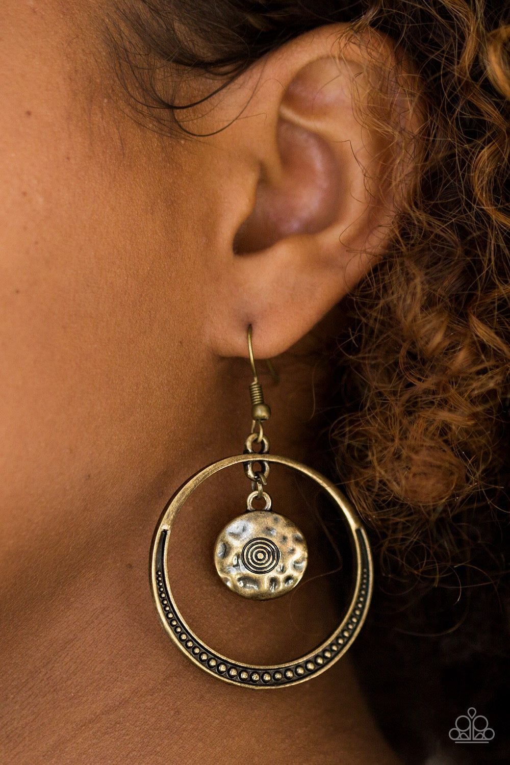 Paparazzi Tundra Trip - Brass Earrings