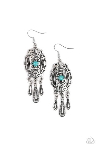 Paparazzi Natural Native Turquoise Earrings