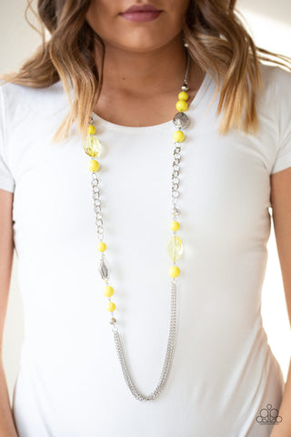 Paparazzi Marina Majesty - Yellow Necklace