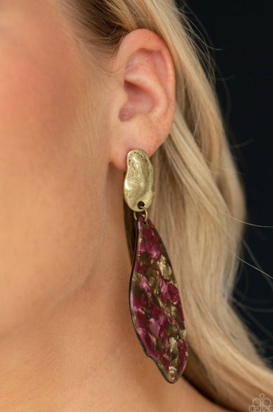 Paparazzi Fish Out of Water - Brass Earrings