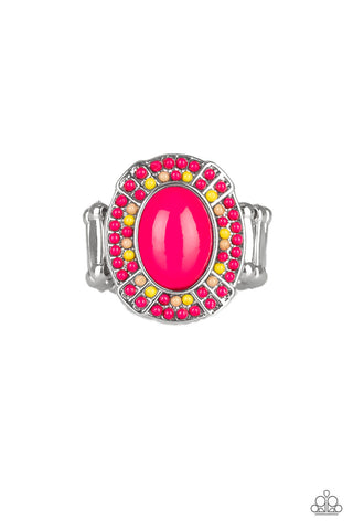 Paparazzi Colorfully Rustic - Pink Ring
