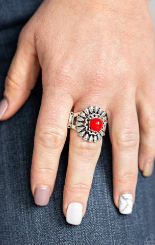Paparazzi Poppy Pep - Red Ring