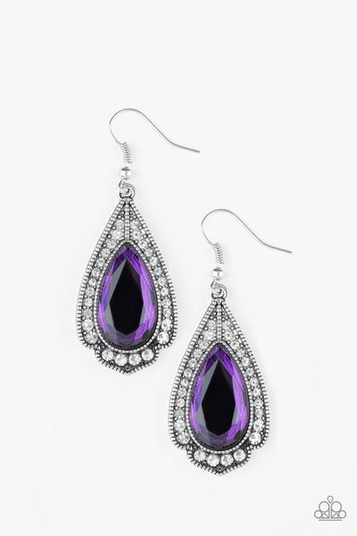 Paparazzi Superstar Stardom - Purple Earrings