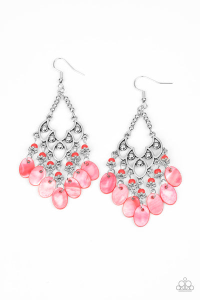 Paparazzi Shore Bait - Red Earrings